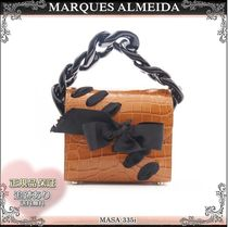 19AW☆送料込【MARQUES ALMEIDA】 リボン チェーンハンドバッグ