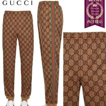 【正規品保証】GUCCI★18秋冬★GG COTTON BLEND SWEATPANTS