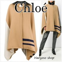 VIP価格★Chloe★color-block wool ケープ