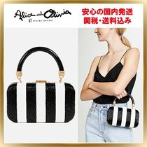 Alice+Olivia Shirley Embroidered Stripes クラッチ 関税送料込