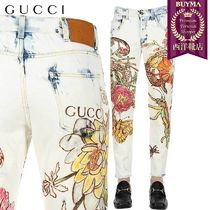 【正規品保証】GUCCI★18秋冬★BLEACHED COTTON DENIM JEANS