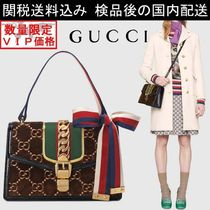 少数入荷 新作★GUCCI★Sylvie GG velvet small shoulder bag