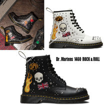 Dr Martens★1460 ROCK&ROLL★刺繍★スカル★スタッズ★兼用 2色