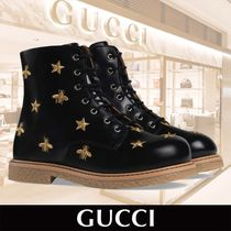 GUCCI Bees and Stars Lace-Up Boot 関税送料込