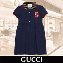 GUCCI Cotton Dress with G Patch Girls 関税送料込
