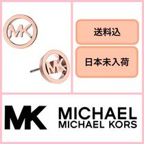 ■日本未入荷・送料込★MICHAEL KORS Logo Tone Stud Earrings♪