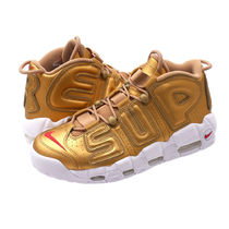 Supreme×NIKE SS17 AIR MORE UPTEMPO 金 (ステッカー付き)