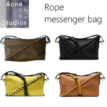 Acne Rope leather messenger bagレザーメッセンジャーバッグ4色