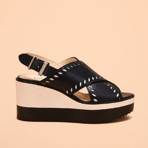 JIL SANDER NAVY☆WEDGE ウェッジソール / dark blue