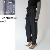 ACNE Tien structure wool black ウールパンツ