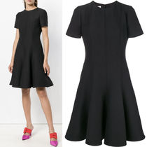 18-19AW V1191 CREPE COUTURE FLARE DRESS