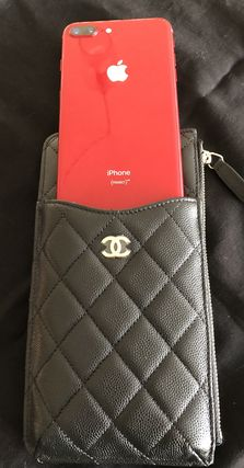 CHANEL スマホケース・テックアクセサリー ALL IN ONE大容量★2018 CHANEL★TIMELESS TC PHONE CASE in BLK(4)