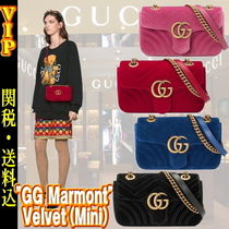 "◆◆VIP◆◆ GUCCI  ""GG Marmont"" Velvet(Mini) 3Way / 送税込"