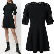 18-19AW V1197 LACE INSET MINI DRESS