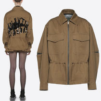 18-19AW V1199 VALENTINO WAVE COTTON GABARDINE JACKET
