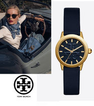 ギフトBox付き!Tory Burch GIGI watch Navy /Gold 28MM
