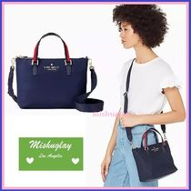 【kate spade】軽量ナイロン製★2wayバッグ♪ stripe lucie★