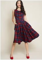 collectif x modcloth intriguing, always a-line midi dress