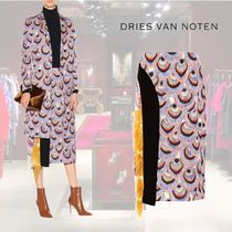 【18AW】★Dries Van Noten★Feather-trimmed brocade skirt