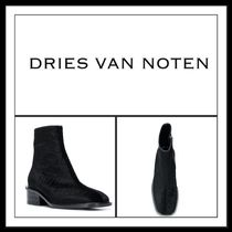 ★★Dries Van Noten 《 TEXTURED ANKLE BOOTS 》送料込み★★