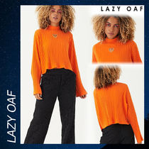 LAZY OAF Orange Heart All Out Top シャツ Tシャツ 長袖 トップ