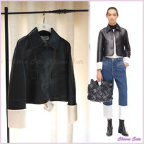 【18AW NEW】LOEWE_women /Cropped Jacketジャケット/ブラック