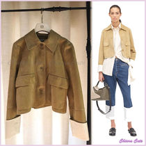 【18AW NEW】LOEWE_women /Cropped Jacketジャケット/ゴールド
