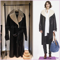 【18AW NEW】LOEWE_women /Belted Coat Shearling Collarコート/