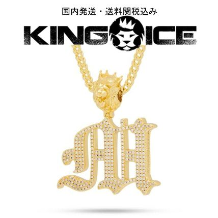 King Ice ネックレス・チョーカー 日本未入荷☆KING ICE☆The Old English Letter M Necklace