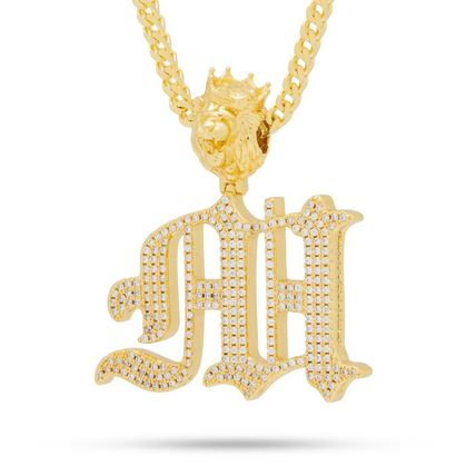 King Ice ネックレス・チョーカー 日本未入荷☆KING ICE☆The Old English Letter M Necklace(2)