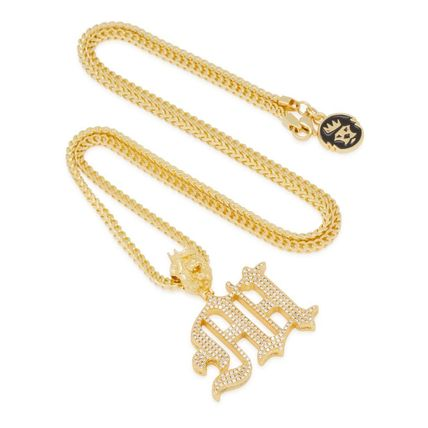 King Ice ネックレス・チョーカー 日本未入荷☆KING ICE☆The Old English Letter M Necklace(4)