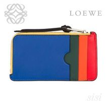 LOEWE★ロエベ Rainbow Coin/Card Holder Multicolor/Black