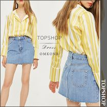 【国内発送・関税込】TOPSHOP★High-rise denim skirt
