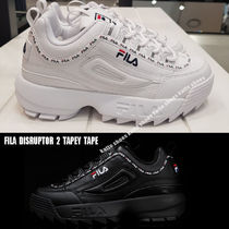 FILA★DISRUPTOR 2 TAPEY TAPE★ロゴ★厚底★兼用★2色