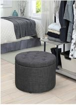 オットマン Porch&Den Congress Round ShoeStorage Ottoman 送料無料 関税込
