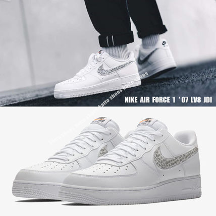 Nike スニーカー NIKE★AIR FORCE 1 '07 LV8 JDI★ロゴ★JUST DO IT COLLECTION白