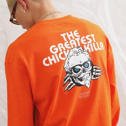 CRITIC Tシャツ・カットソー ★関税込★CRITIC★SKULL CHICKEN KILLA LONG SLEEVE T-SHIRT★(5)