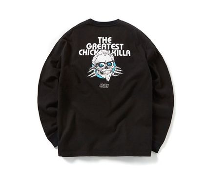 CRITIC Tシャツ・カットソー ★関税込★CRITIC★SKULL CHICKEN KILLA LONG SLEEVE T-SHIRT★(7)