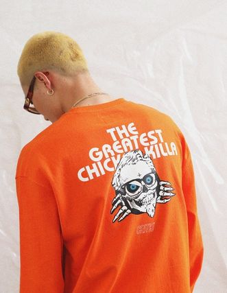 CRITIC Tシャツ・カットソー ★関税込★CRITIC★SKULL CHICKEN KILLA LONG SLEEVE T-SHIRT★(11)