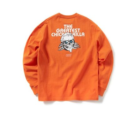 CRITIC Tシャツ・カットソー ★関税込★CRITIC★SKULL CHICKEN KILLA LONG SLEEVE T-SHIRT★(15)