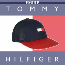 ☆18AW☆Tommy Hilfiger★大人もOK★NAVY & REDフラッグキャップ