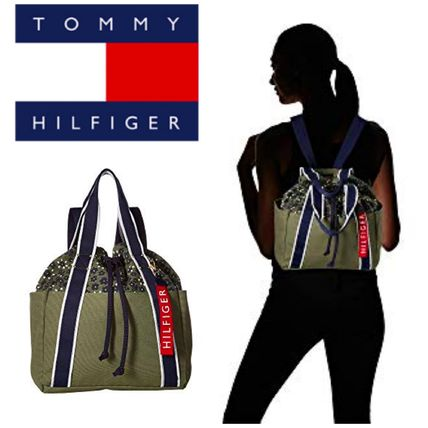 【Tommy Hilfiger 】セール●Classic Tommy Drawstring Backpack
