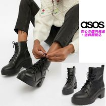 ASOS DESIGN Raider Chunky Lace Up Boots♪