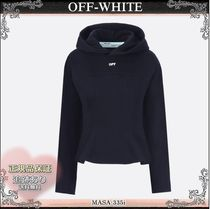 19AW☆送料込【OFF-WHITE】 OFFプリント クロップフーディ