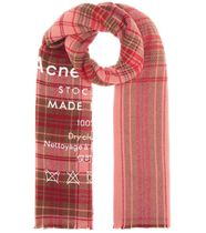 【ACNE STUDIOS】Cassiar checked wool scarf
