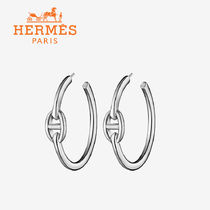 国内発関税込☆HERMES Chaine d'Ancre Enchainee earrings small