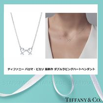 [Tiffany] ティファニー Double Loving Heart Silver ペンダント