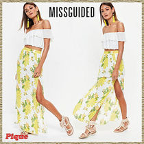 Missguided★花柄プリントマキシスカート