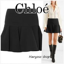 VIP価格★Chloe★pleated basqueミニスカート
