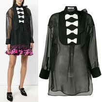 18-19AW V1208 BOW EMBELLISHED SILK BLOUSE